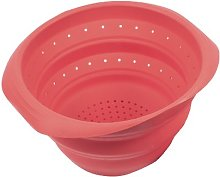 PINFI Folding Silicone Colander, Red 18 cm