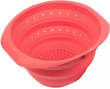 PINFI Folding Silicone Colander, Red 25 cm