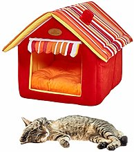 pinghub Dog Cave Bed Cat Cave Foldable Cat Bed