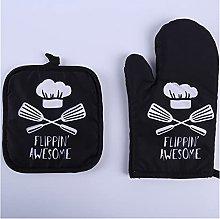 PINGPUNG Oven gloves 1 Piece Cute Non-slip Black