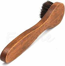 PiniceCore Horsehair Shoe Brush Long Wood Handle