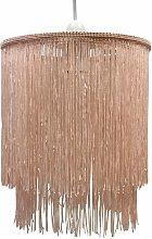 Pink 2 Tier Tassel Light Shade