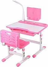 Pink Adjustable Children's study Desk and