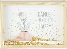 Pink and Gold Glittery Dancer Print Frame 25x18