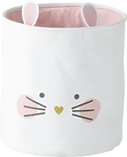 Pink and White Canvas Mouse Basket