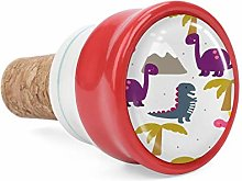 Pink Animal Colorful Dinosaurs Wine Cork Wine
