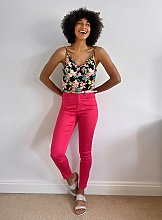 Pink Ankle Grazer Trousers With Belt - 20L