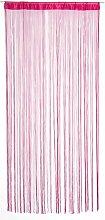 Pink bright curtain wire door window separation