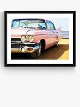 Pink Cadillac - Framed Print & Mount, 66 x 86cm,