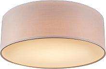 Pink ceiling lamp 30 cm incl. LED - Drum LED
