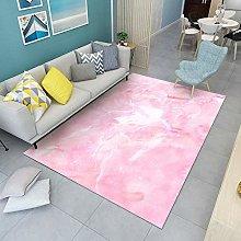 Pink cloud fog Area rug modern style rug Moroccan