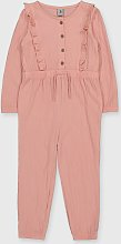 Pink Crinkle Jumpsuit - 1.5-2 years