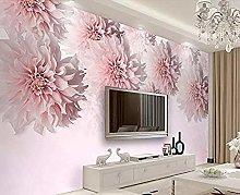 Pink Daisy Modern Simple 3D Wallpaper Mural Wall