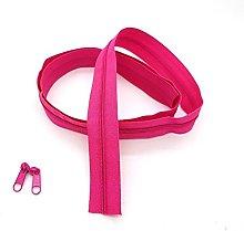 Pink Dark Continuous Zip & Sliders No. 5 Zippers