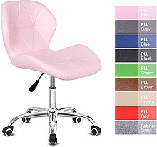 Pink Desk Chair for Home,Office Swivel Chair PU