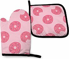 Pink Doughnuts Oven Mitts Pot Holders Sets Oven