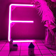 Pink E Neon Letters Light Sign Alphabet A-Z on