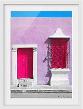 Pink Facade Pink Door Framed Photographic Art