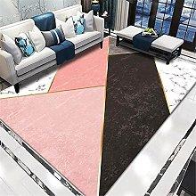Pink Fireplace Rug New Modern Geometric Dear