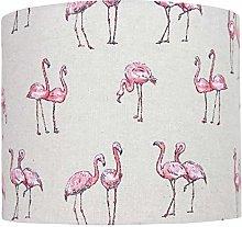 Pink Flamingo Linen Print Lampshade (40 cm
