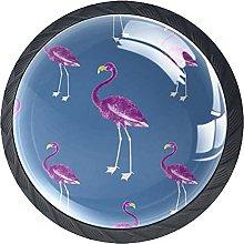 Pink Flamingo, Modern Minimalist Printing Cupboard