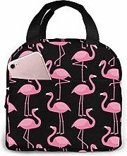 Pink Flamingo Pink Flamingo Lunch Bag Cooler Bag,