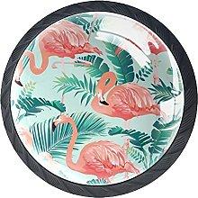 Pink Flamingos, Cabinet Knob Premium Drawer