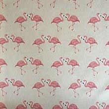 Pink Flamingos Design Cotton Rich Linen Look