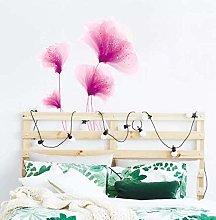 Pink Flower Furniture Stickers Fridge Wardrobe