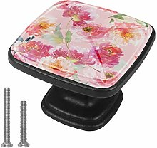 Pink Flowers [4 PCS]Decorative Cabinet Wardrobe