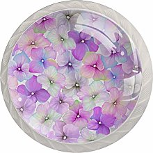 Pink Flowers 4 Pieces Crystal Glass Wardrobe