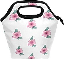 Pink Flowers Beauty and Cat Pattern Insulated