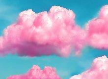Pink Fluffy Clouds-50x60cm,DIY 5D Diamond Painting