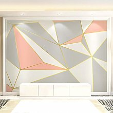 Pink Geometric Color Matching Wall Covering