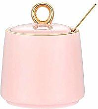 Pink gold Sugar Bowl Dispenser Salt Container