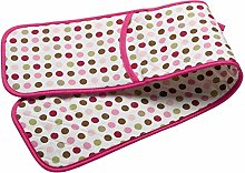 Pink & Green Polka Dot Double Oven Glove Quilted