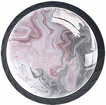 Pink Grey Marble Print Cabinet Door Knobs Handles