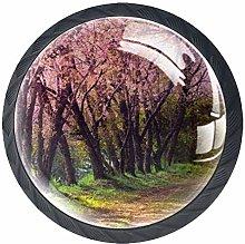 Pink Grove, Modern Minimalist Printing Cupboard