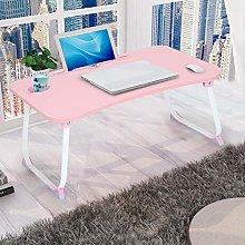 Pink Lap Desk, Laptop Bed Table Folding Laptop