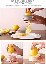 Pink Lemon slicer Multi-functional Spiral Lemon