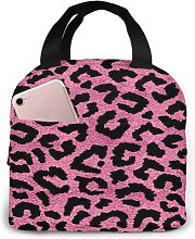 Pink Leopard Skin Pattern1 Portable Insulated