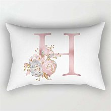 Pink Letter Cushion Cover 30x50 Polyester