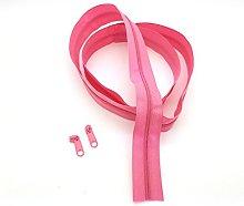 Pink Light Continuous Zip & Sliders No. 3 Zippers
