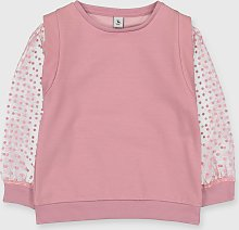 Pink Mesh Sleeved Sweatshirt - 5 years
