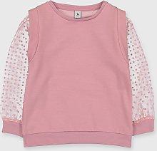 Pink Mesh Sleeved Sweatshirt - 9 years