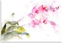 Pink Orchid Art Print East Urban Home
