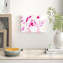 Pink Orchid Galour Flowers Canvas Print Wall Art