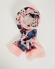 Pink Oversized Floral Scarf - One Size