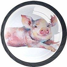Pink Pig Knob Handles Door Knobs Cabinet Pulls
