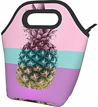 Pink Pineapple On Pink and Blue Pastel. Portable